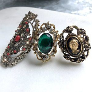 Set of Three Vintage Statement Rings